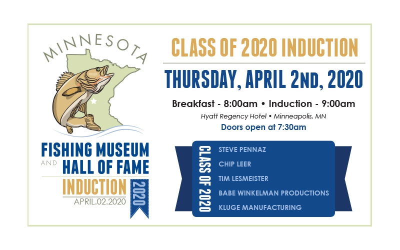 Minnesota fishing museum and hall of fame induction 2020 banner