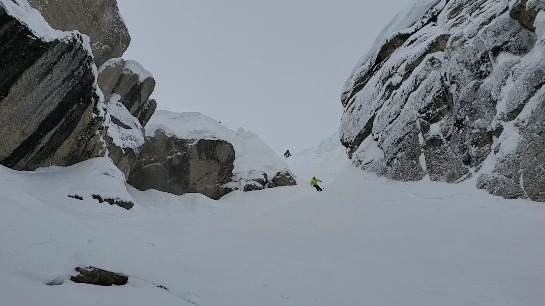 My first-decent into Corbet's Couloir